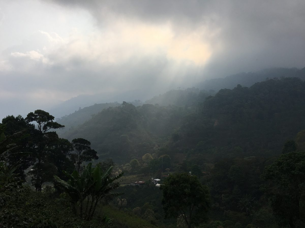 The mountain landscape of Honduras