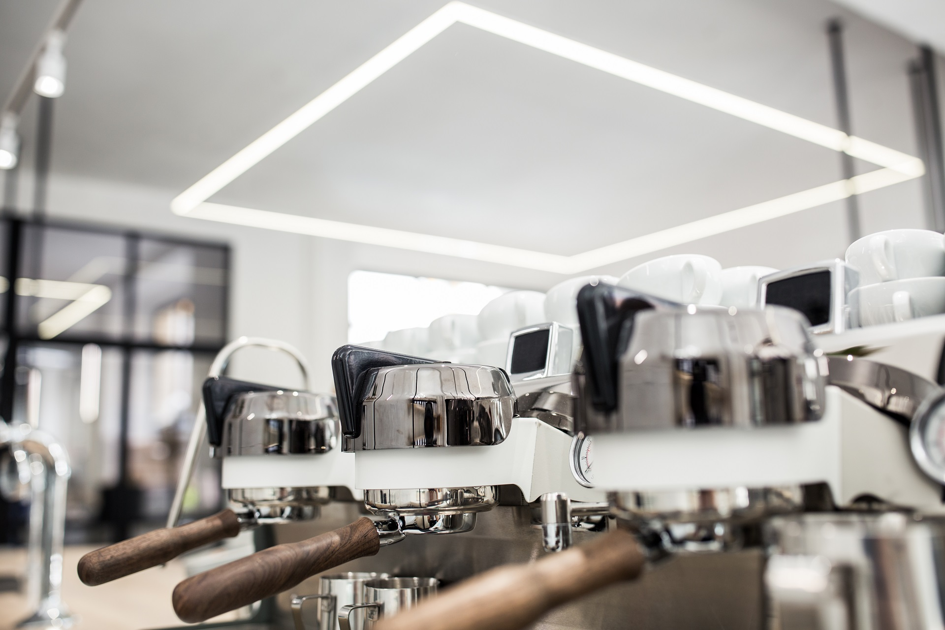 An espresso coffee machines in The Visit premises